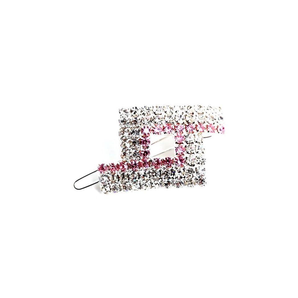 Silver Plt Crystal Cz Hair Pin Clip (Ac29)