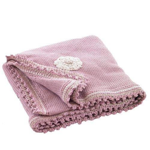 Organic Baby Blanket - Dusky Pink