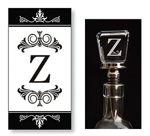 Monogram Guest Towel & Winestopper Gift Set - Z