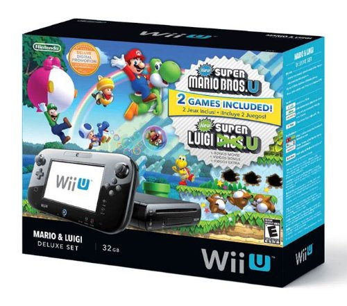 Nintendo Wii U Deluxe Set: New Super Mario Bros- U and New Super Luigi U (Wii U Console 32gb compare prices)