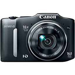 Canon PowerShot SX160 IS 16.0 MP Digital Camera (Old Model) with 16x Wide-Angle Optical Image Stabilized Zoom with 3.0-Inch LCD