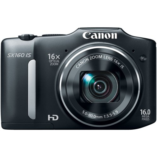 Canon PowerShot SX160 IS 16.0 MP Digital Camera with 16x Wide-Angle Optical Image Stabilized Zoom with 3.0-Inch LCD (Black)