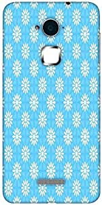 Snoogg festive flourish pattern Solid Snap On - Back Cover all Around protection For Coolpad Note 3 (White, 16GB)