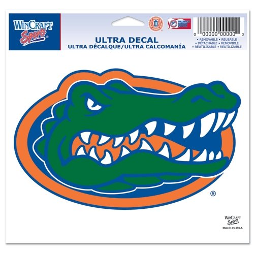 """Florida Gators Official NCAA 4.5""""x6"""" Car Window Cling Decal by Wincraft"""