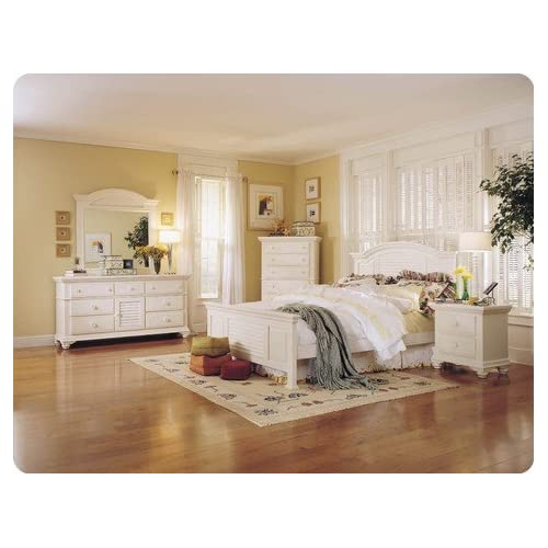 Pleasant isle queen panel bedroom set by for Bedroom furniture amazon