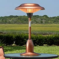 Fire Sense Copper Finish Table Top Round Halogen Patio Heater-p from Fire Sense
