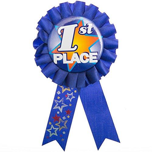 1st Place Rosette Ribbon Button - 1