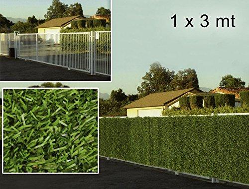 bordura bicolore siepe artificiale 1x3 metri esterno alta qualità privacy campeggio
