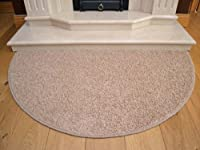 Beige Half Moon Rug. Size 70cm x 137cm from Rugs Supermarket