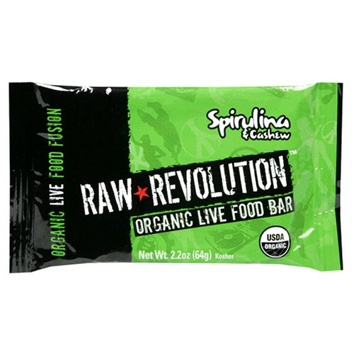 Raw Revolution Organic Live Food Bars, Spirulina 