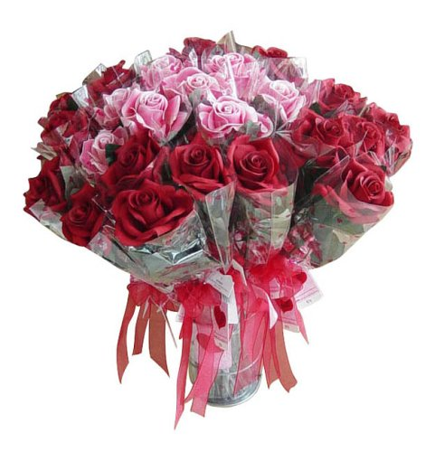Valentine Gift Wrapped Silk Rose
