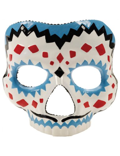 Day Of The Dead Female Mask - Halloween Mask