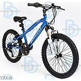 """Muddyfox Avenger 20"""" Boys Hardtail Mountain Bike - Blue and White - NEW 2015 SUMMER RANGE"""
