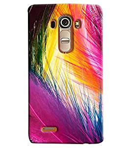 Blue Throat Color Feather Hard Plastic Printed Back Cover/Case For LG G4