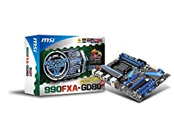 MSI V2 Socket AM3+/AMD 990FX/DDR3/CrossFireX and 3-way SLI/SATA3 and USB 3.0/A and GbE/ATX Motherboard 990FXA-GD80 V2
