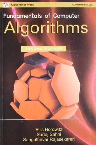 Fundamentals of Computer Algorithms