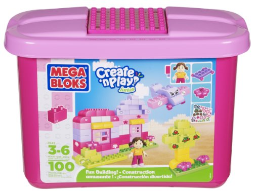 Building Blocks Pink Tub (100-Piece) (Mini Blocks 3+) (Building Blocks Pink Tub compare prices)
