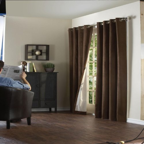 Insulating Curtains - Suede Media Grommet Top Panel