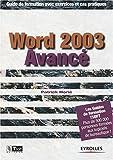 echange, troc Patrick Morié - World 2003 Avancé : Guide de formation avec exercices et cas pratiques