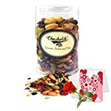 Valentine Chocholik's Premium Gifts - Delectable Cocktail Party Dry Fruits 500 Gm With Love Card And Rose