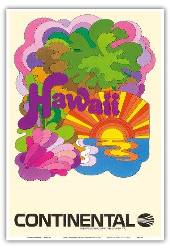 hawaii-continental-airlines-arte-psicodelico-aerea-de-viaje-c1960s-hawaiian-maestro-de-arte-13-x-19
