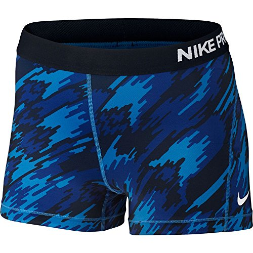 Nike Women's Pro Cool Short SM Blue/White