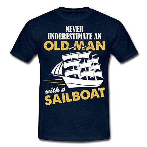 unterschatze-nie-alten-mann-segelboot-manner-t-shirt-von-spreadshirtr-xl-navy