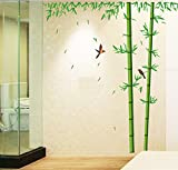 uberlyfe Bamboo TV Background Sticker Bedroom Living Room Sofa Setting Wall Sticker AY201