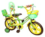 #10: NY Bikes Steel Delux 14T Kids' Bicycle, 14 Inches (Yellow and Green)
