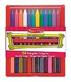 Melissa and Doug Triangular Crayon Set, 24-Piece