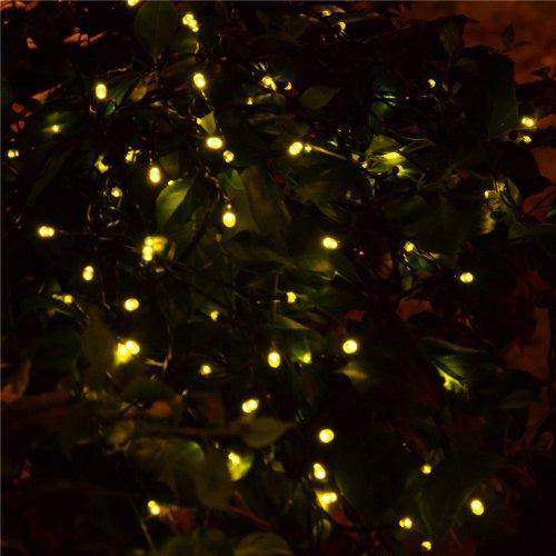 Signstek 32.8FT 100 LED 7 Modes Waterproof Light-white Solar String Powered String Light for Outdoor Garden Christmas Wedding Party *Warm White*