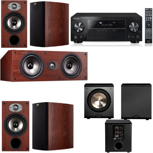 Polk Audio Tsx220 5.1 Home Theater System (Cherry)-Pioneer Vsx-1123-K 7.2