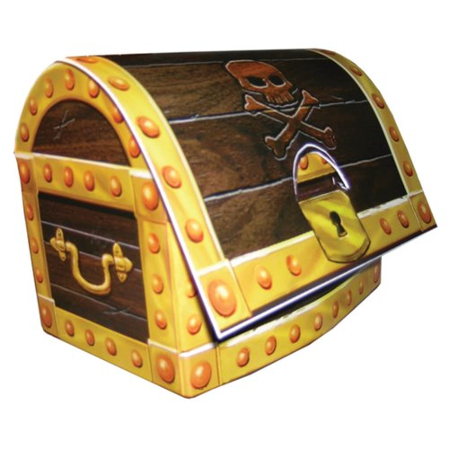 Creative Converting Buried Treasure 3D Treasure Chest Centerpiece Party Decoration