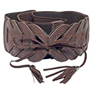 eVogues Plus Size Braided Look Elastic Fashion Belt