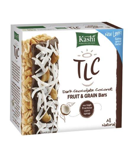 Kashi TLC Fruit & Grain Bar, Dark Chocolate Coconut, 6 - 1.1 oz  Bars, (Pack of 6)