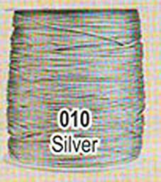 #010 Silver Chainette Shawl Fringe - 1800 ft Spool
