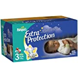 Pampers Extra Protection Nighttime Diapers Super Pack Size 3 96 Count