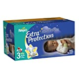 Pampers Extra Protection Diapers Size 3 Super Pack 96 Count