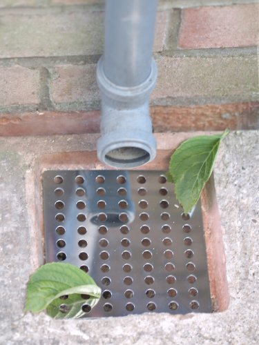 great-ideas-pack-of-2-rustproof-stainless-steel-swirl-drain-covers-hopper-lids-drainage-guards