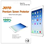 JOTO Premium Screen Protector Film for Apple iPad Air, iPad 5, 5th generation iPad, Anti Glare, Anti Fingerprint (Matte Finish) with Lifetime Replacement Warranty (3 Pack)