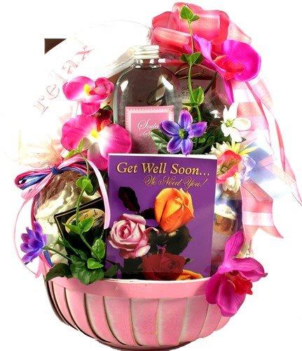 Gift basket village get well soon for women