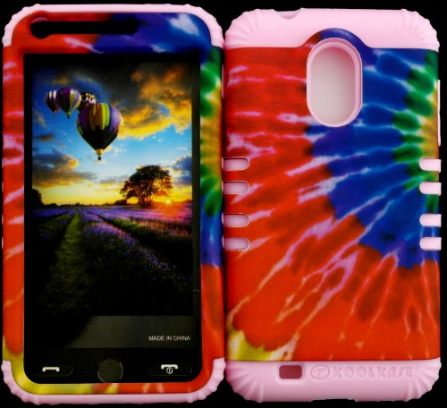 Hybrid Impact Protective Tie Dye Pattern Cover Case On Baby Pink Skin For Samsung S2 Galaxy Epic 4G Touch D710 R760 For Sprint/Boost Mobile/Virgin Mobile/Us Cellular front-849644
