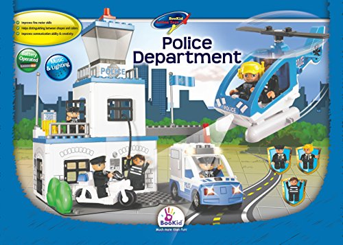 Building Blocks, Police Department. Battery Operated Police Car and Helicopter with Lights and Sound (Battery Operated Helicopter compare prices)