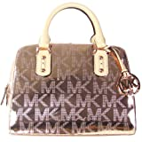 MICHAEL Michael Kors MK Signature Mirror Metallic Small Satchel Rose Gold 35T1MMKS1Z