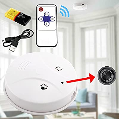 GEARONIC TM HD Mini DVR Spy Hidden Camera Smoke Detector Motion Detection Video Recorder Cam by GEARONIC TM