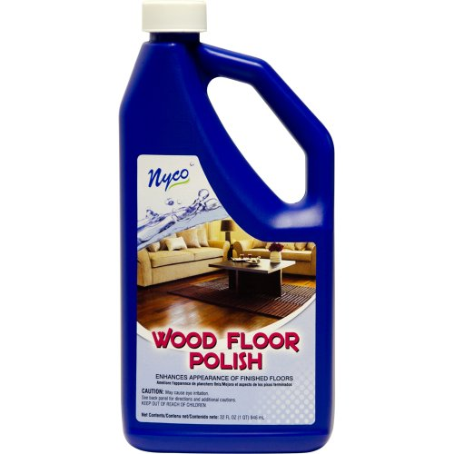Nyco Products Nl90429 Wood Floor Polish, Acrylic Scent, 8.0 - 9.0 Ph, 1 Qt Bottle (Case Of 6) front-82063