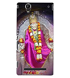 ColourCraft Lord Sai Baba Design Back Case Cover for SONY XPERIA T2 ULTRA DUAL D5322