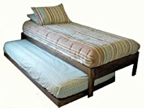 Hot Sale Santa Cruz Extra Long Twin Bed with Twin Trundle (Rustic Walnut)