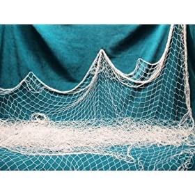 100 X 9 Ft Fish Net, Fishing Nets, Netting, Seine, Garden, Pond, Nautical Decor