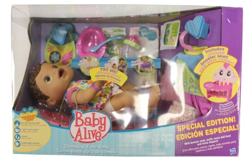 Hispanic Baby Alive Changing Time Baby Special Edition With Booster Set